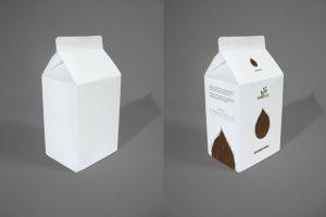نمونه طراحی پاکت شیر